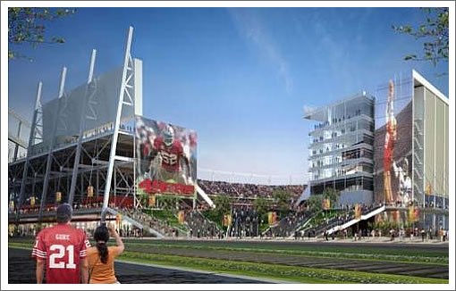 mockup of proposed Santa Clara San Francisco 49ers stadium